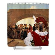 Fila Brasileiro Art Canvas Print - La Noce Shower Curtain