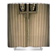 Film Noir Sidney Greenstreet   Mask Of Demetrious 1944 Sid Bruce's Sculptures Black Canyon Az 1991 Shower Curtain