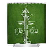 Fire Hydrant Patent From 1876 - Green Shower Curtain by Aged Pixel
