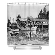 Net Shed Gig Harbor Shower Curtain