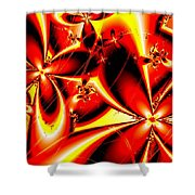 Flaming Red Flowers Shower Curtain