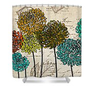 Floral Delight I Shower Curtain