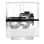 Fn Ps90 X-ray Photograph Shower Curtain