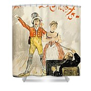 France Paris Poster Of Stage Performance At Cafe Chantant Shower Curtain