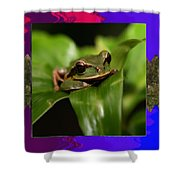 Frog Hideous Green Amphibian Shower Curtain