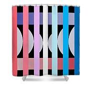 Fun Geometric  Shower Curtain