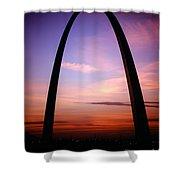 Gateway Arch Sunrise Shower Curtain