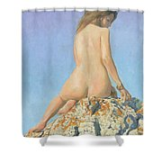 Girl And Sky 2012 Shower Curtain