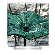 Glass Lily Pad  Shower Curtain