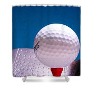 Golf Shower Curtain by David and Carol Kelly