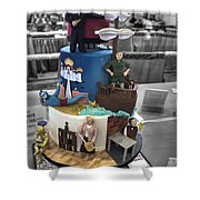 Grand National Wedding Cake Competition 741 Shower Curtain