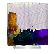 Grand Rapids City Skyline Shower Curtain