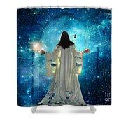 Heavens Door Shower Curtain