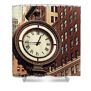 Historic Clock Of The Fifth Avenue Shower Curtain