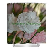 Holiday Greeting Card  Shower Curtain