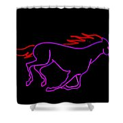 Horse Running Shower Curtain
