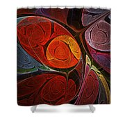 Hypnotic Flower Shower Curtain by Anastasiya Malakhova