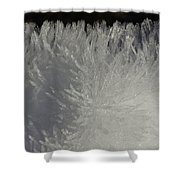 Ice Crystal Formations Shower Curtain