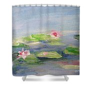 Impressionistic Lilies Monet Shower Curtain