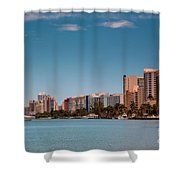 Indian Creek Canal Millionaires Row Shower Curtain