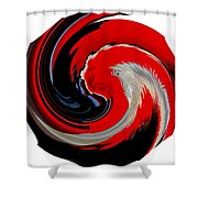 Infinity Multicultural American Flag Chief 1 Shower Curtain