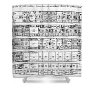 Inquiry In The Loss Of The Titanic Cross Sections Of The Ship  Shower Curtain