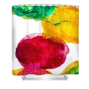 Interactions 1 Shower Curtain by Amy Vangsgard
