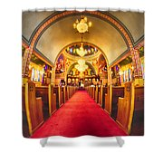 Interior Of  Holy Trinity Gre Shower Curtain
