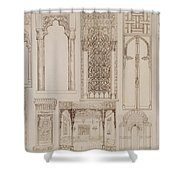 Islamic And Moorish Design For Shutters And Divans Shower Curtain by Jean Francois Albanis de Beaumont
