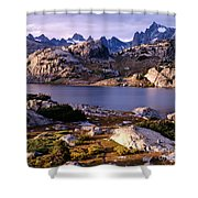 Island Lake And Wind River Range Shower Curtain