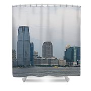 Jersey City Skyline Shower Curtain