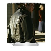 Johnny Cash About To Draw On Kirk Douglas Old Tucson Arizona 1971 Shower Curtain