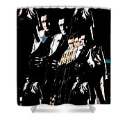 Johnny Cash Multiplied  Shower Curtain