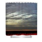 Kansas Prairie Grass Sunrise Shower Curtain