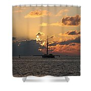 Marelous Key West Sunset Shower Curtain