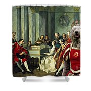Komondor Art Canvas Print - Sextet Shower Curtain