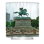 Kusunoki Masashige Shower Curtain