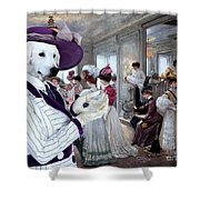 Kuvasz Art Canvas Print Shower Curtain