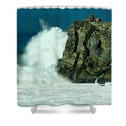 Lady Of Mugu Rock 1  Shower Curtain
