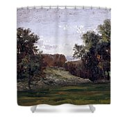 Landscape Near The Monastery Piedra. Aragon Shower Curtain