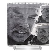 Lee Marvin Monte Walsh Variation #3 Collage Old Tucson Arizona 1969-2012 Shower Curtain