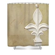 Letters From France Shower Curtain