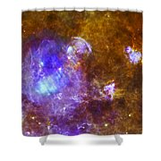 Life And Death In A Star-forming Cloud Shower Curtain by Adam Romanowicz