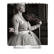 Lila Angelique In The Angel Tunnel Shower Curtain