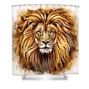 Lion Head In Front Shower Curtain