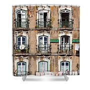Lisbon - 18th Century Facade  Shower Curtain