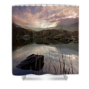 Llyn Ogwen Sunset Shower Curtain