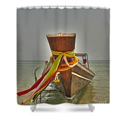 Long Tail Boat Shower Curtain