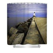 Ludington  Light House Michigan Shower Curtain