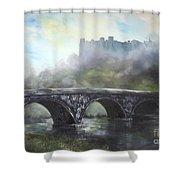 Ludlow Castle In A Mist Shower Curtain